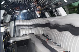Inside one of our limousines